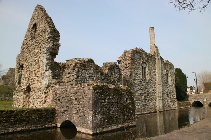 Ruines de Christchurch photo stock