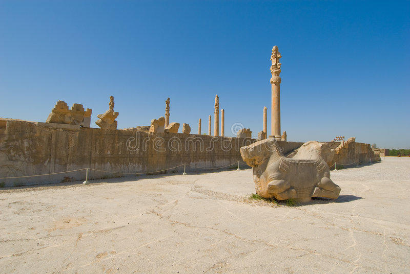 Ruines de de Persepolis images stock