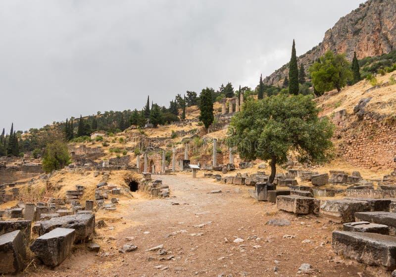 Ruines de Delphi Oracle à Athènes Grèce image stock