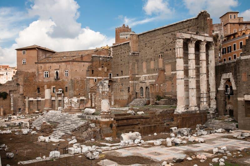 Ruines de Foro di Augusto à Roma - l'Italie photos stock