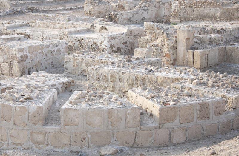 Ruines de fort du Bahrain images libres de droits