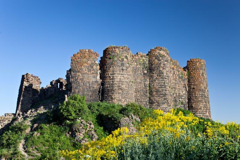 Ruines de forteresse d'Amberd images libres de droits