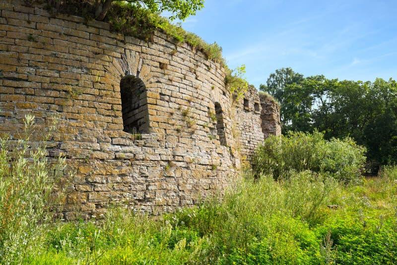 Ruines de forteresse d'Ivangorod photos stock