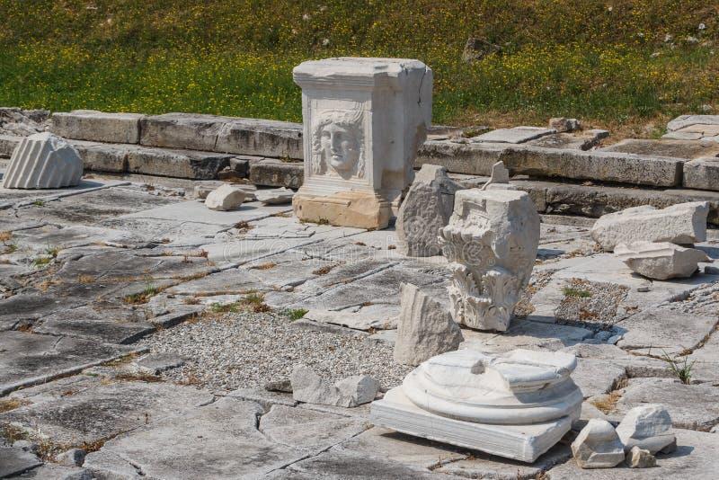 Ruines de forum dans la ville antique d'Aquileia photographie stock libre de droits
