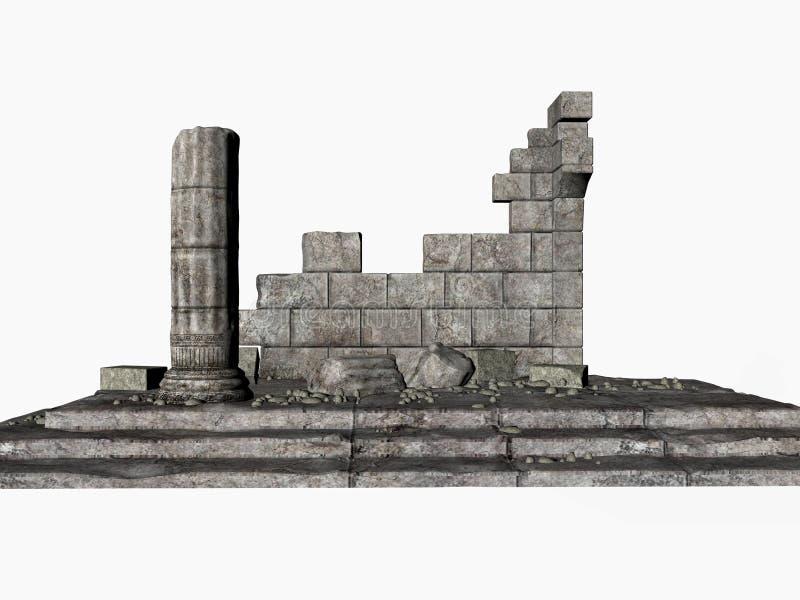 Ruines de Grec illustration libre de droits