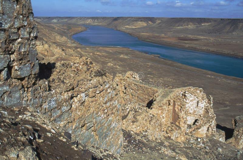 Ruines de Halabiye sur Euphrate image stock