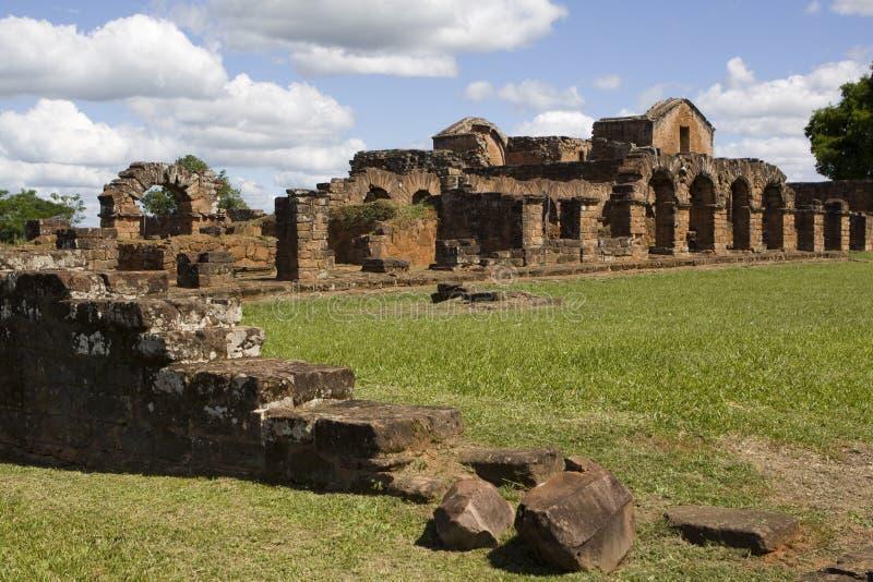 Ruines de jésuite au Trinidad image stock