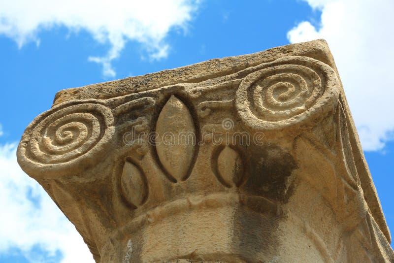Ruines de Katzrin en Israël images libres de droits