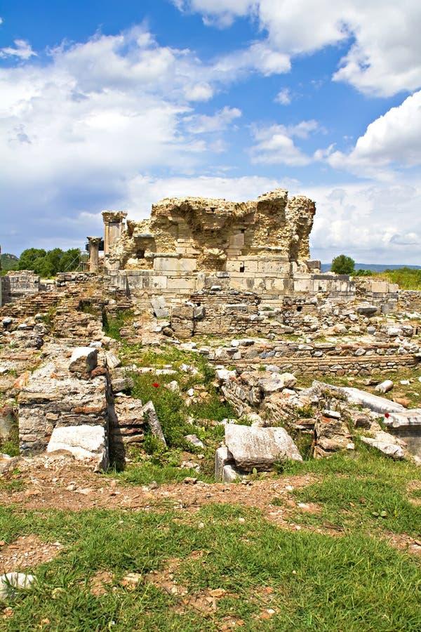 Ruines de l'église d'Ephesus de Mary image stock