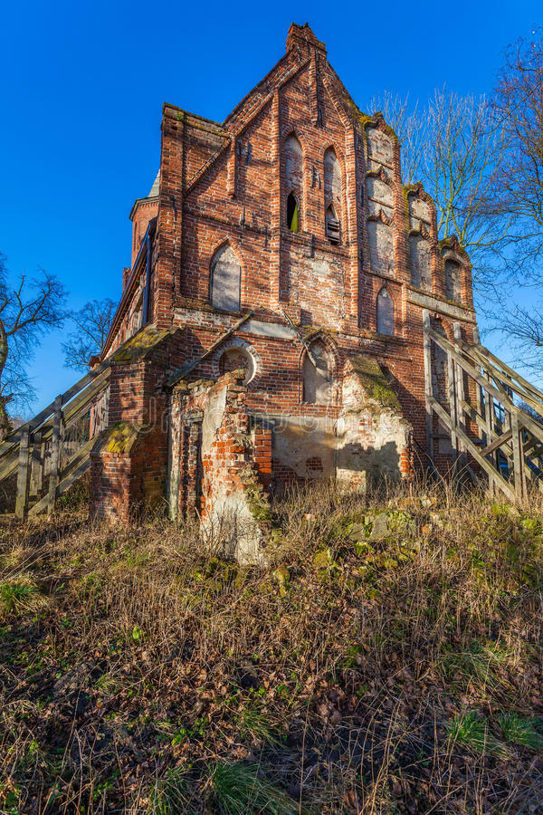 Ruines de l'église des apôtres Simon et Judas image libre de droits