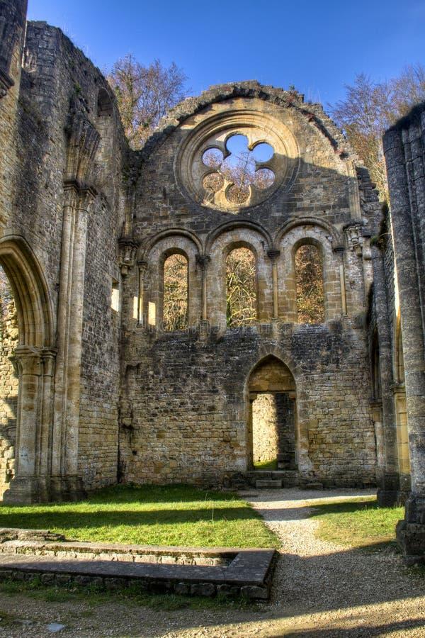 Ruines de l'abbaye d'Orval en Belgique photographie stock libre de droits