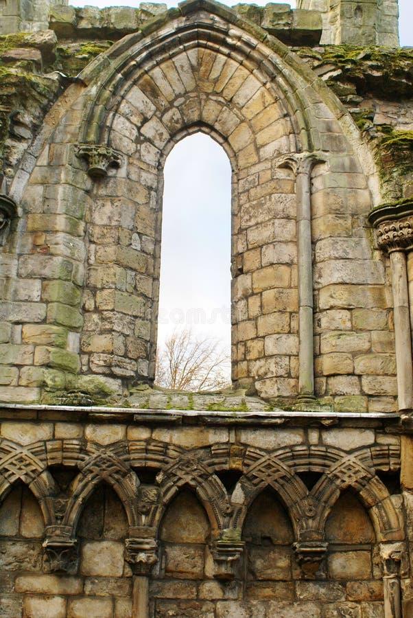 Ruines de l'abbaye de Holyrood photo libre de droits
