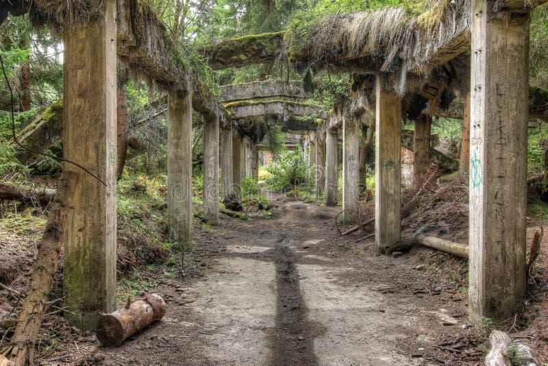 Ruines de l'ancienne mine d'étain Rolava - Sauersack photographie stock libre de droits