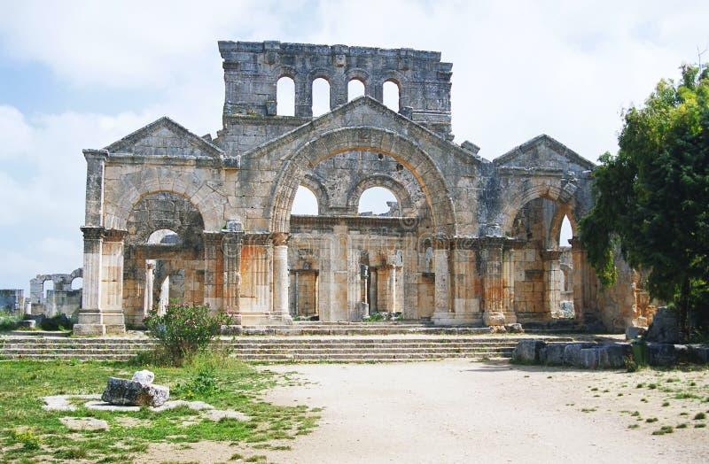 Ruines de la basilique des Stylites de Simeon photo libre de droits