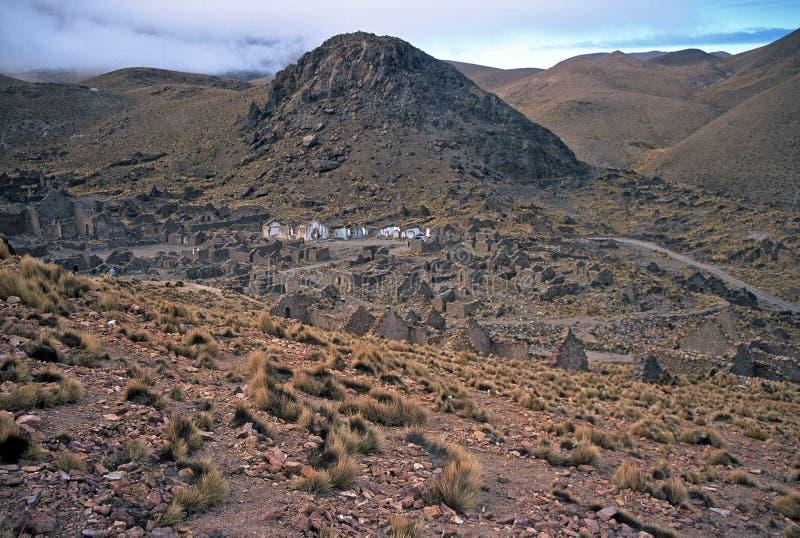 ruines de la Bolivie d'altiplano image libre de droits