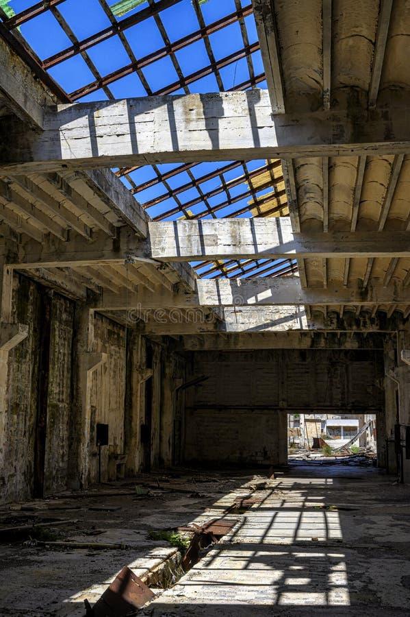 Ruines de la prison d'otok de Goli en Croatie photographie stock