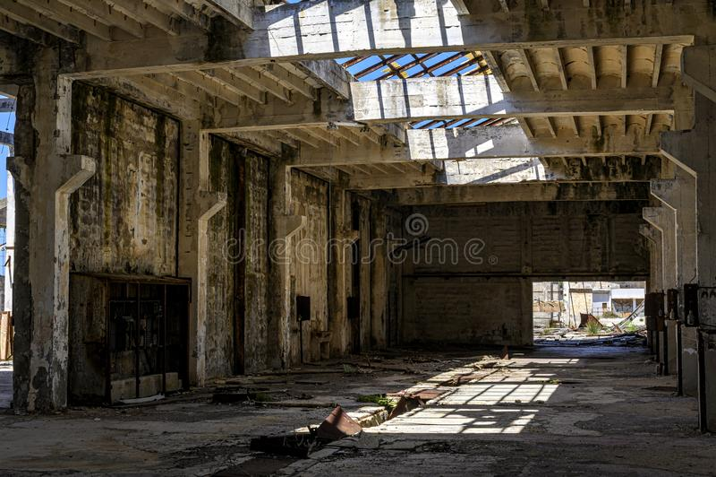 Ruines de la prison d'otok de Goli en Croatie photos stock