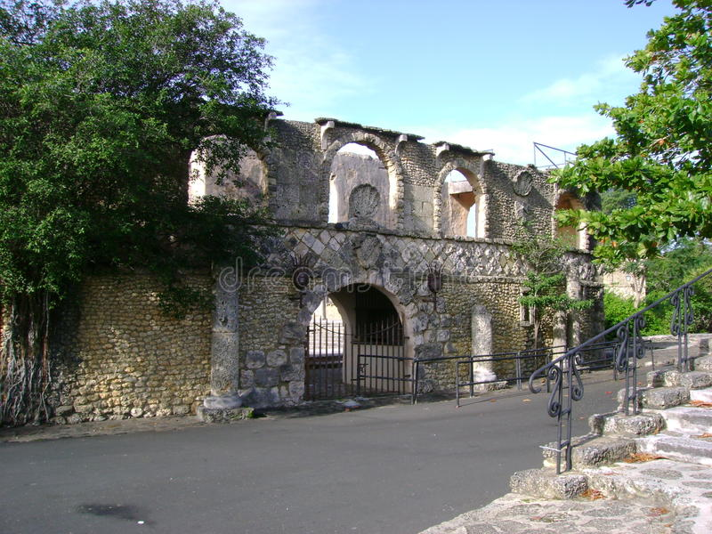 Ruines de la République Dominicaine  image libre de droits