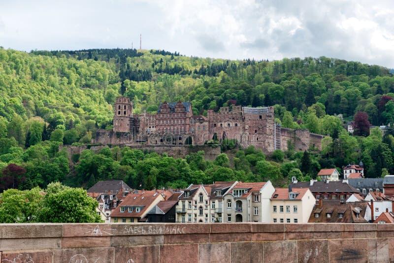 Ruines de la Renaissance Schloss, Heidelberg photo stock