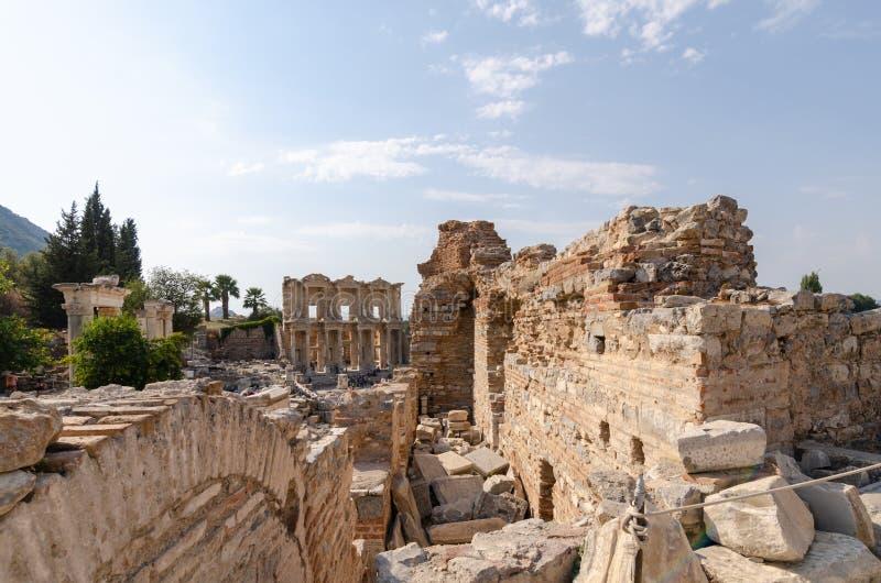 Ruines de la ville antique d'Ephesus, la ville du grec ancien dedans images libres de droits