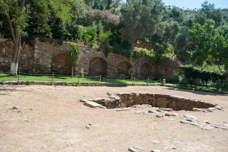Ruines de la ville antique Ephesus, la ville du grec ancien en Turquie, dans un beau jour d'?t? photos libres de droits