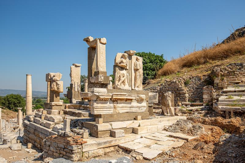 Ruines de la ville antique Ephesus images libres de droits
