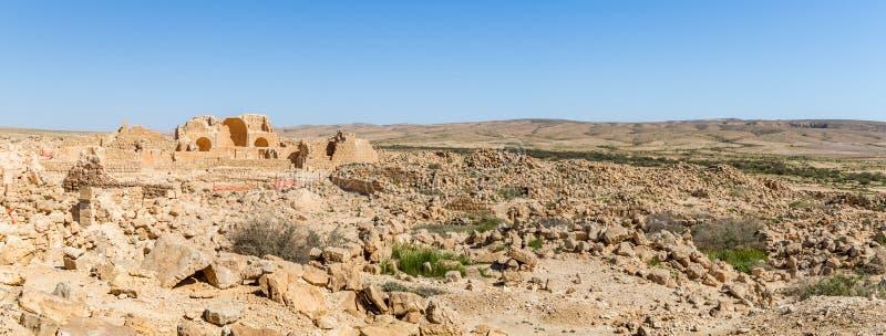 Ruines de la ville antique Shivta de Nabataean image libre de droits