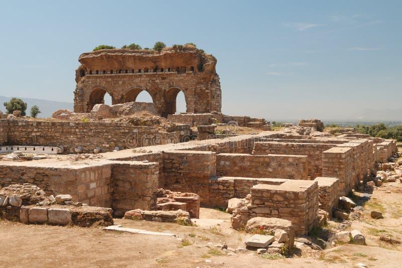 Ruines de la ville antique Tralles Tralleis photographie stock libre de droits