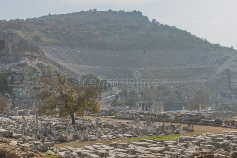 Ruines de la ville du grec ancien d'Ephesus près de Selçuk, Turquie photographie stock