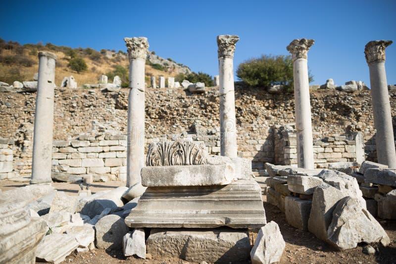 Ruines de la ville grecque Ephesus photos libres de droits