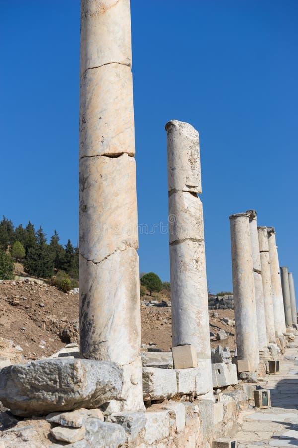 Ruines de la ville grecque Ephesus photos stock