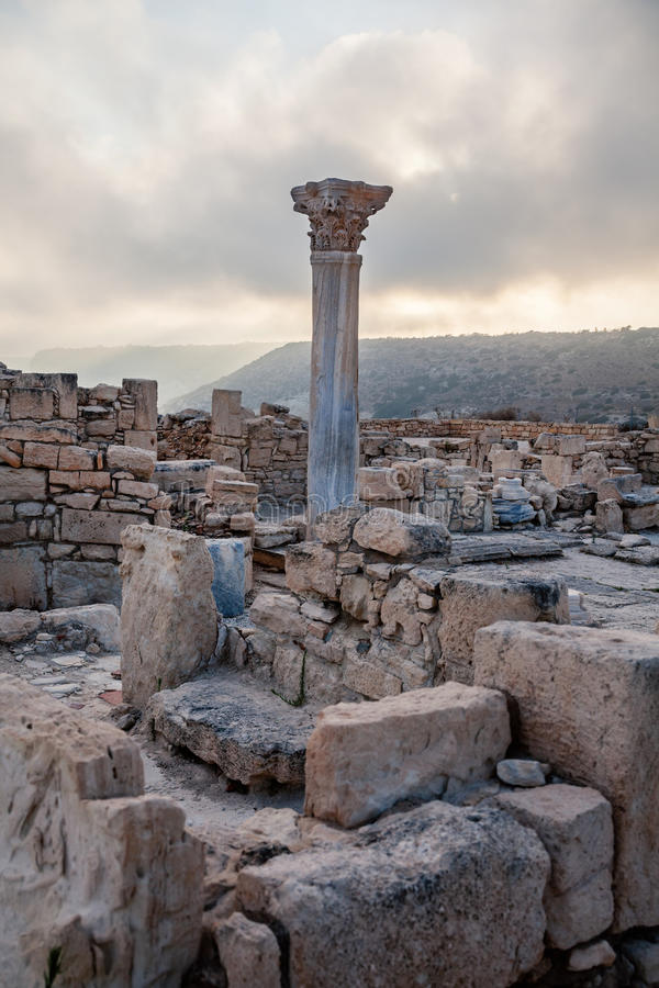 Ruines de la ville romaine antique du curium, Kourion, Chypre photo libre de droits