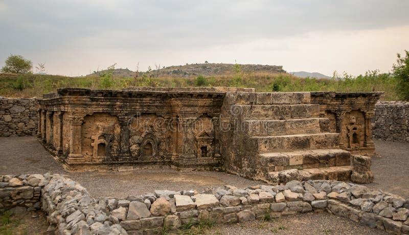 Ruines de la ville de Sirkap, Taxila, Pakistan photos stock