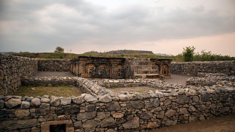 Ruines de la ville de Sirkap, Taxila, Pakistan image libre de droits