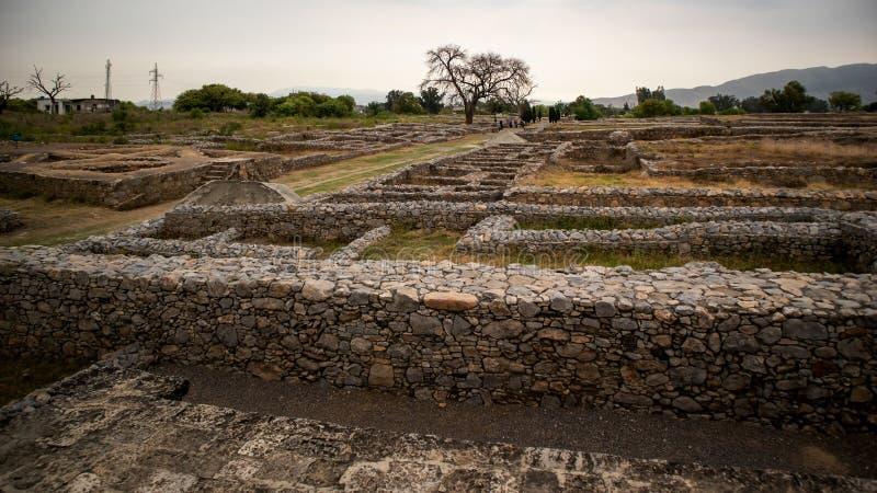 Ruines de la ville de Sirkap, Taxila, Pakistan photographie stock libre de droits