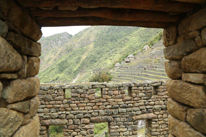 Ruines de Machu Picchu au Pérou image libre de droits