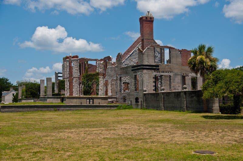 Ruines de manoir de Dungeness sur Cumberland GA image stock