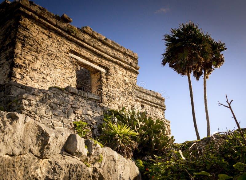 Ruines de Maya dans Tulum, Yucatan, Mexique images libres de droits