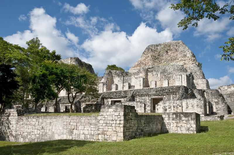 Ruines de Maya de becan photographie stock
