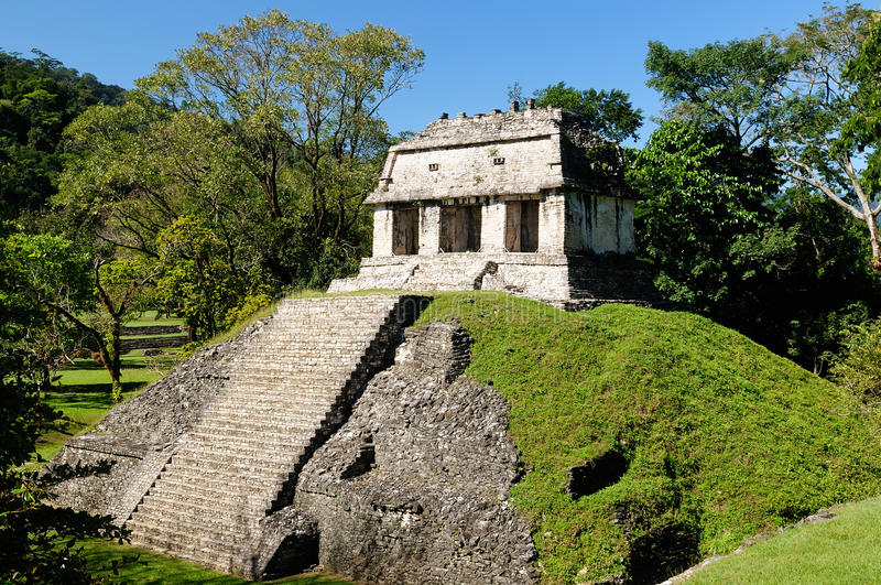 Ruines de Maya de Palenque au Mexique photos stock