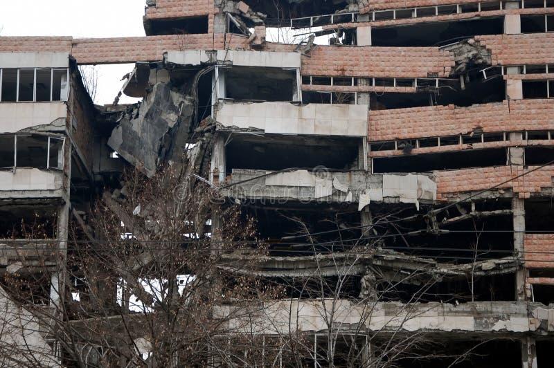 Ruines de Ministère de la Défense photos libres de droits