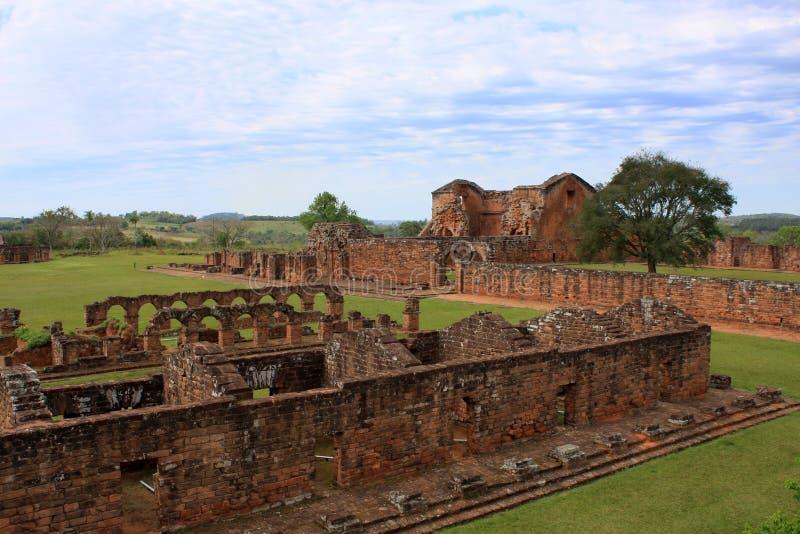 Ruines de mission de jésuite au Trinidad, Paraguay photo libre de droits