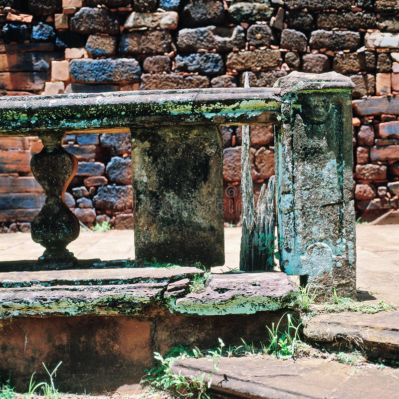 Ruines de mission de jésuite, San Ignacio Mini, Argentine image stock