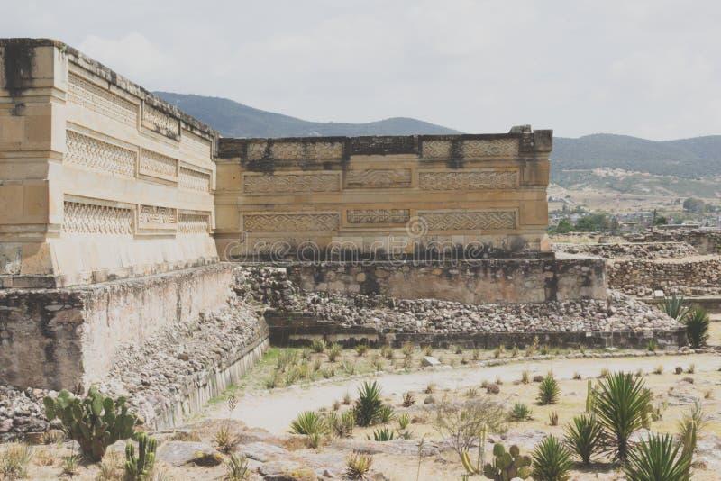 Ruines de Mitla à Oaxaca Mexique images stock