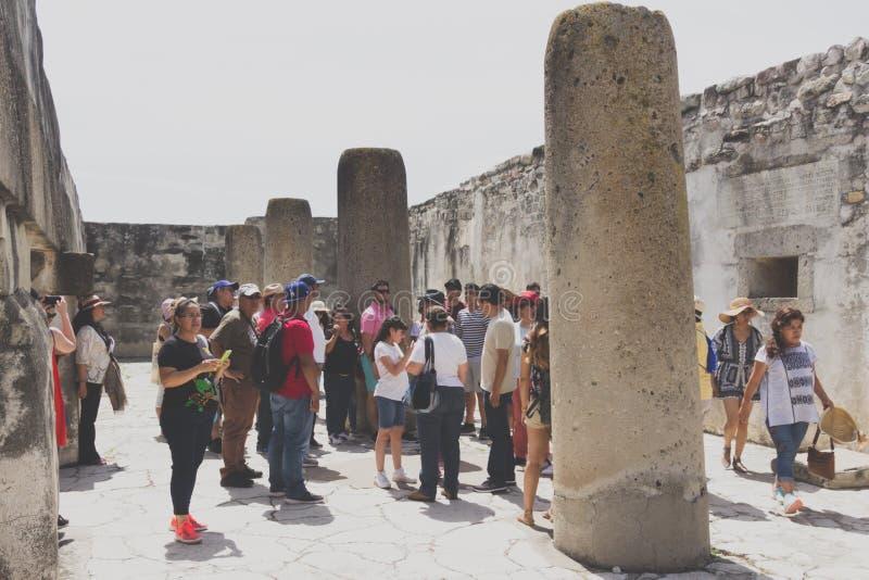Ruines de Mitla à Oaxaca Mexique image libre de droits