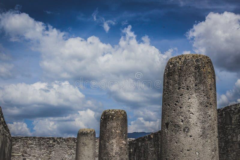 Ruines de Mitla à Oaxaca Mexique photo stock