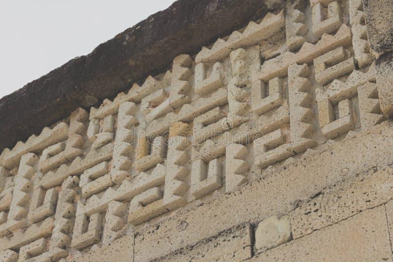 Ruines de Mitla à Oaxaca Mexique photo libre de droits