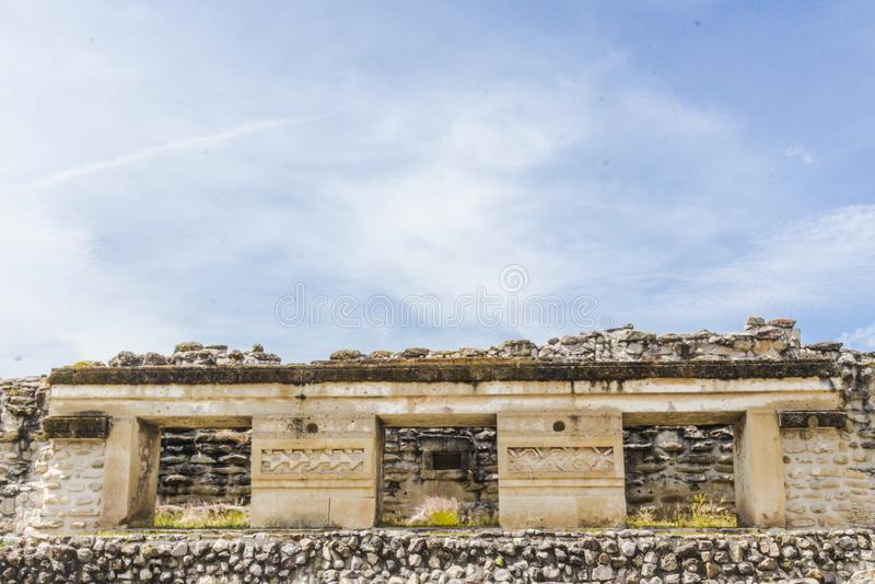 Ruines de Mitla à Oaxaca Mexique images libres de droits