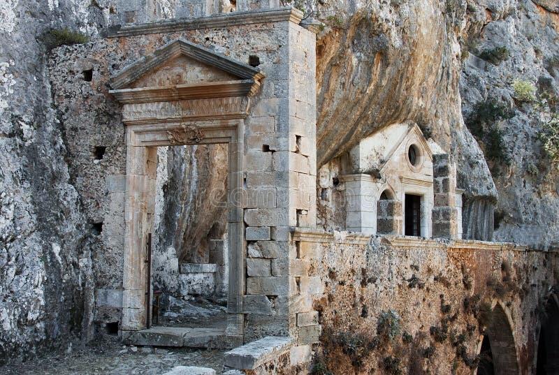 Ruines de Moni Katholikou image stock