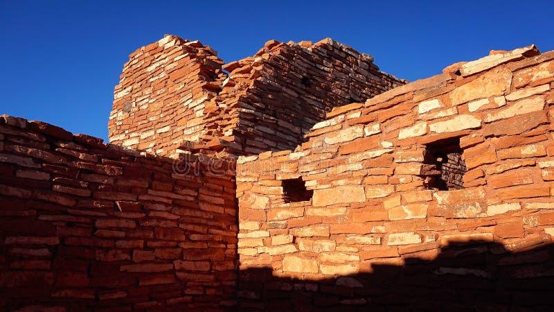 Ruines de monument national de Wupatki photos libres de droits